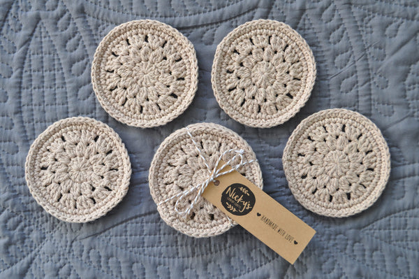 Hand Made Cotton Coasters