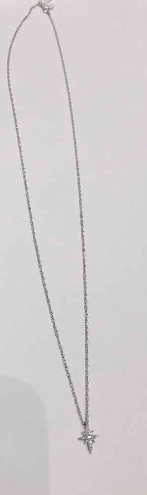 Céline Daoust - north star diamond white gold necklace