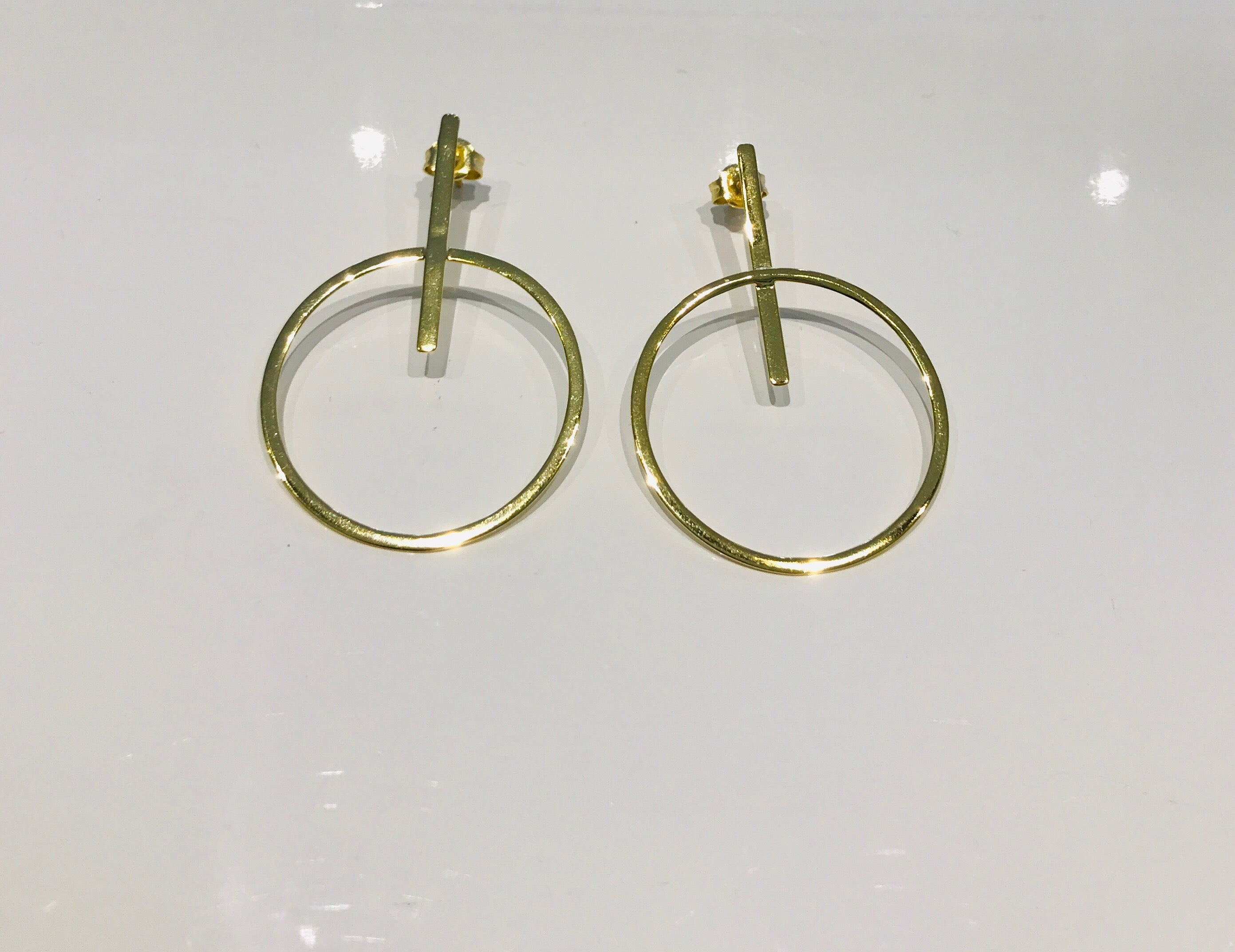 Circle earrings gold plated