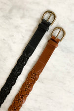 By-Bar - braided leather belt black