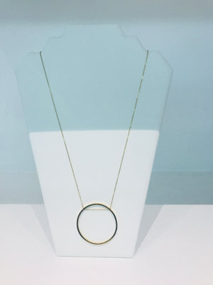 Sam&Cel - long circle necklace gold-colour