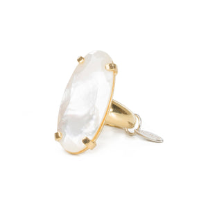 Wouters & Hendrix - Statement ring with mother of pearl