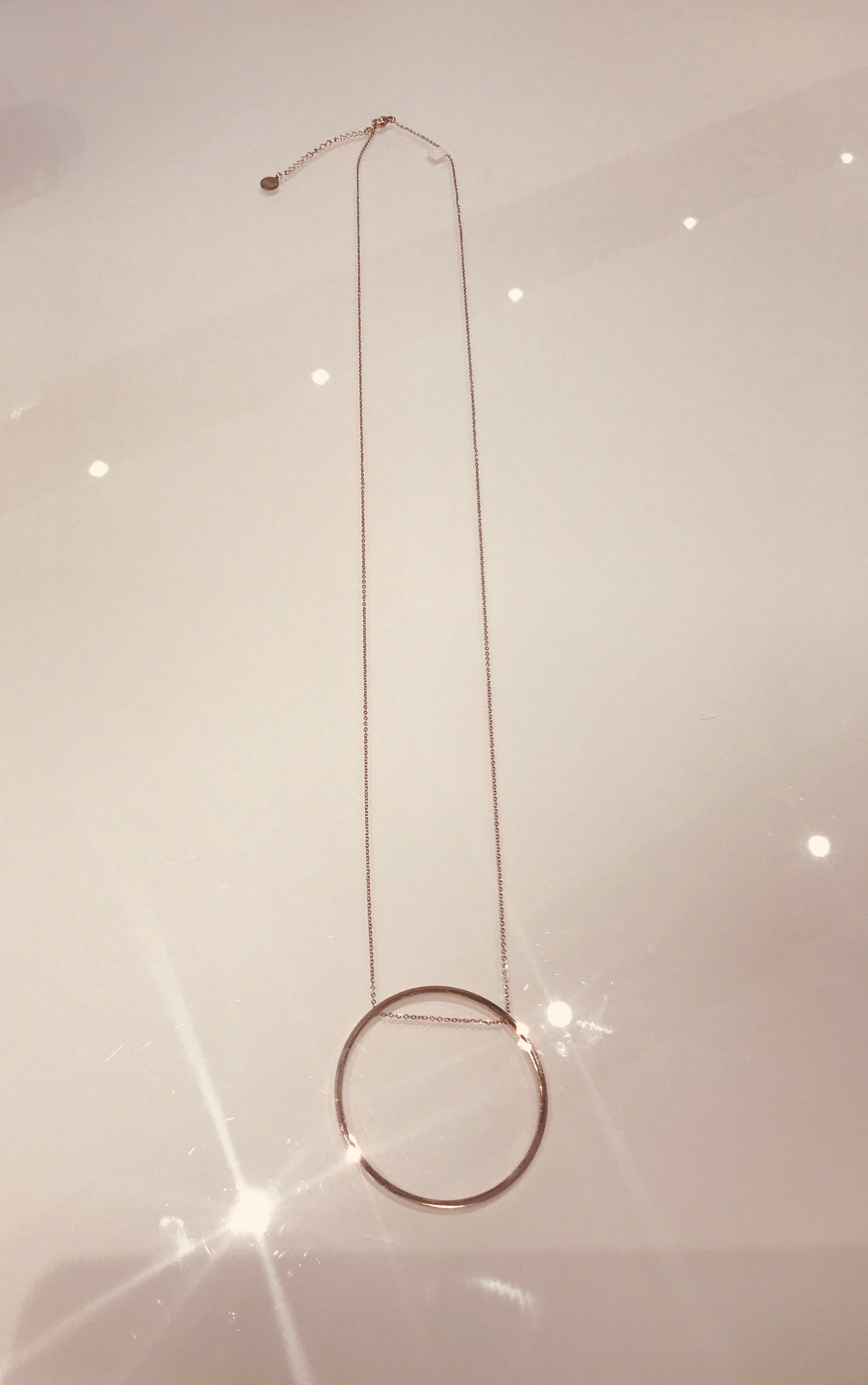 Sam&Cel - long circle necklace in rosé-colour