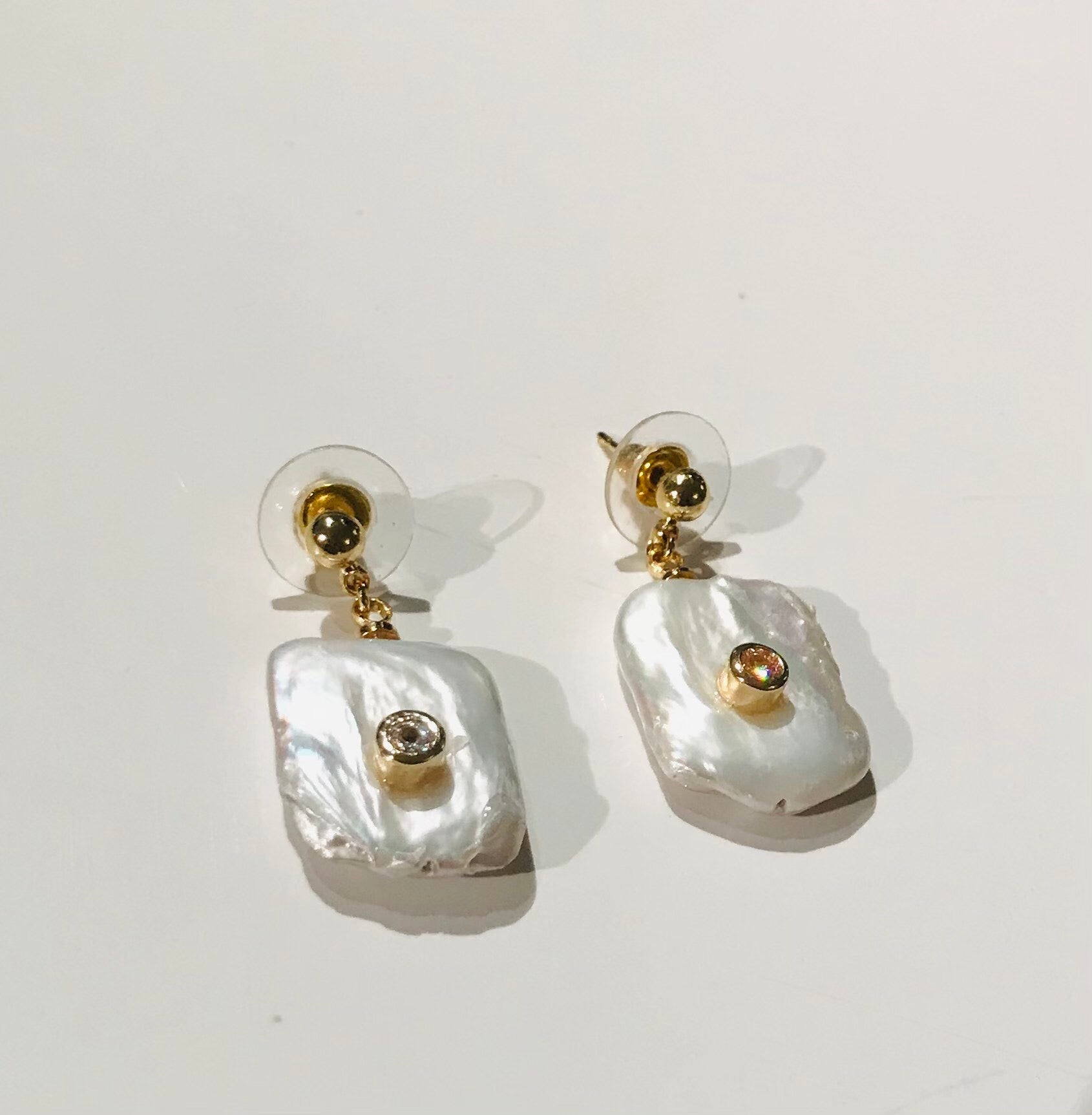 SAM&CEL - freshwater pearl earrings