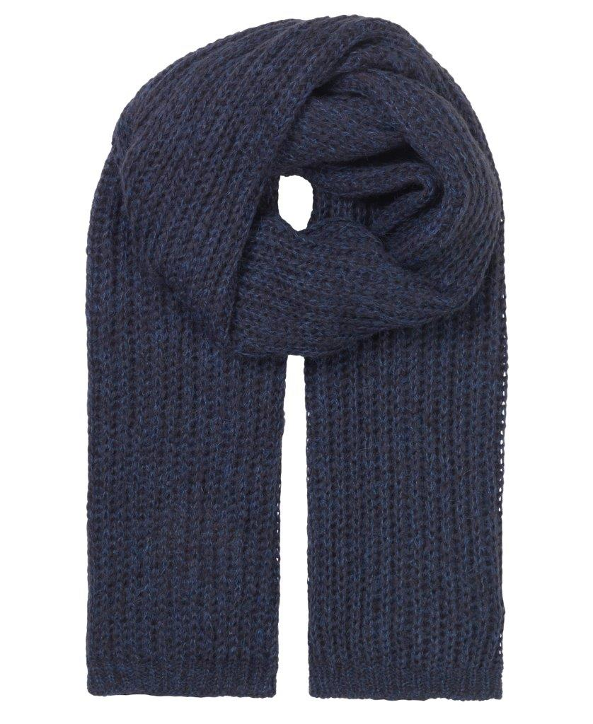 Unmade - stacy scarf navy blue