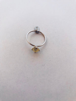 Wouters & Hendrix - silver ring with yellow crystal