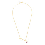 Wouters & Hendrix - Fine arrow pendant necklace with rhodolite