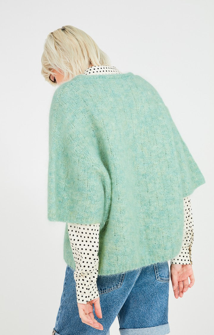 American Vintage - women's knit sweater dolsea pastel green and light blue mix