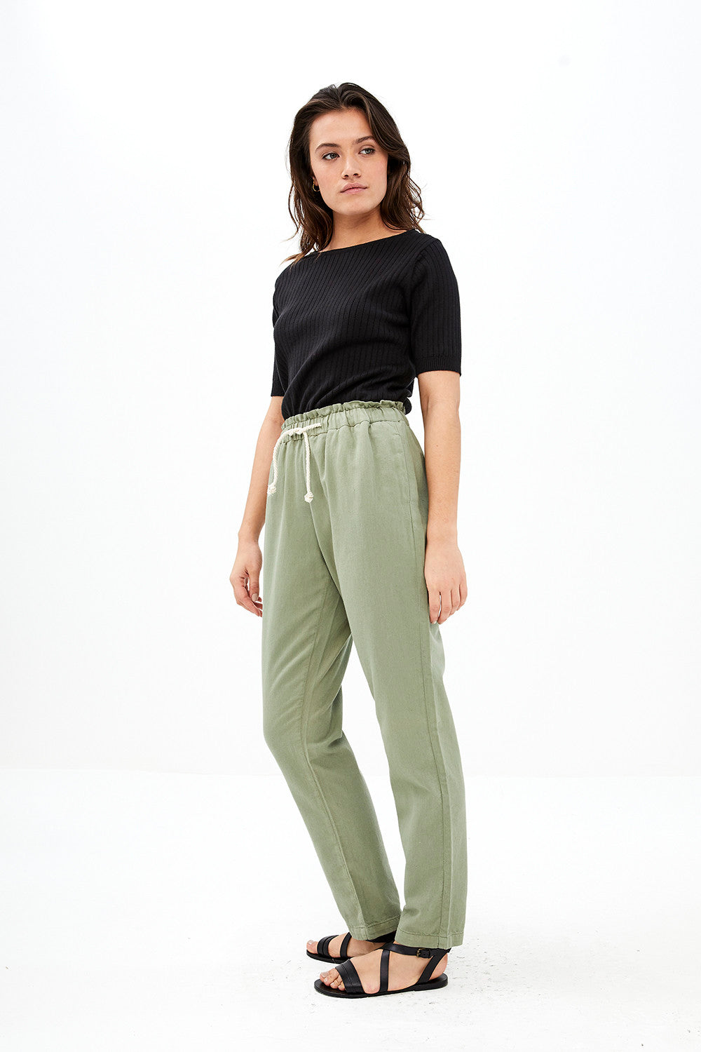 By-Bar - emily pique pant olive green