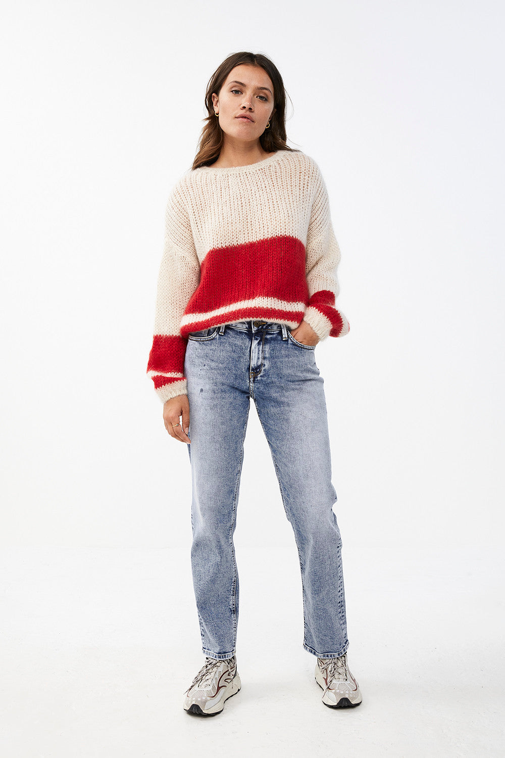By-Bar - evi astro off white pullover