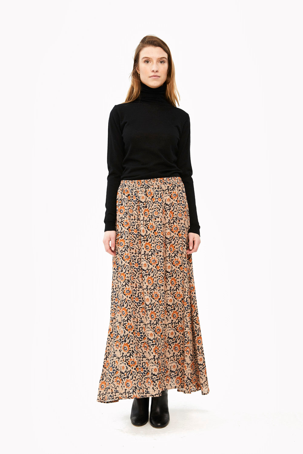 By-Bar - pleun sunflower skirt indigo blue