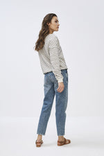 By-Bar - becky black stripe sweater