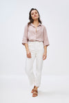 By-Bar - bodil pink blush linen blouse