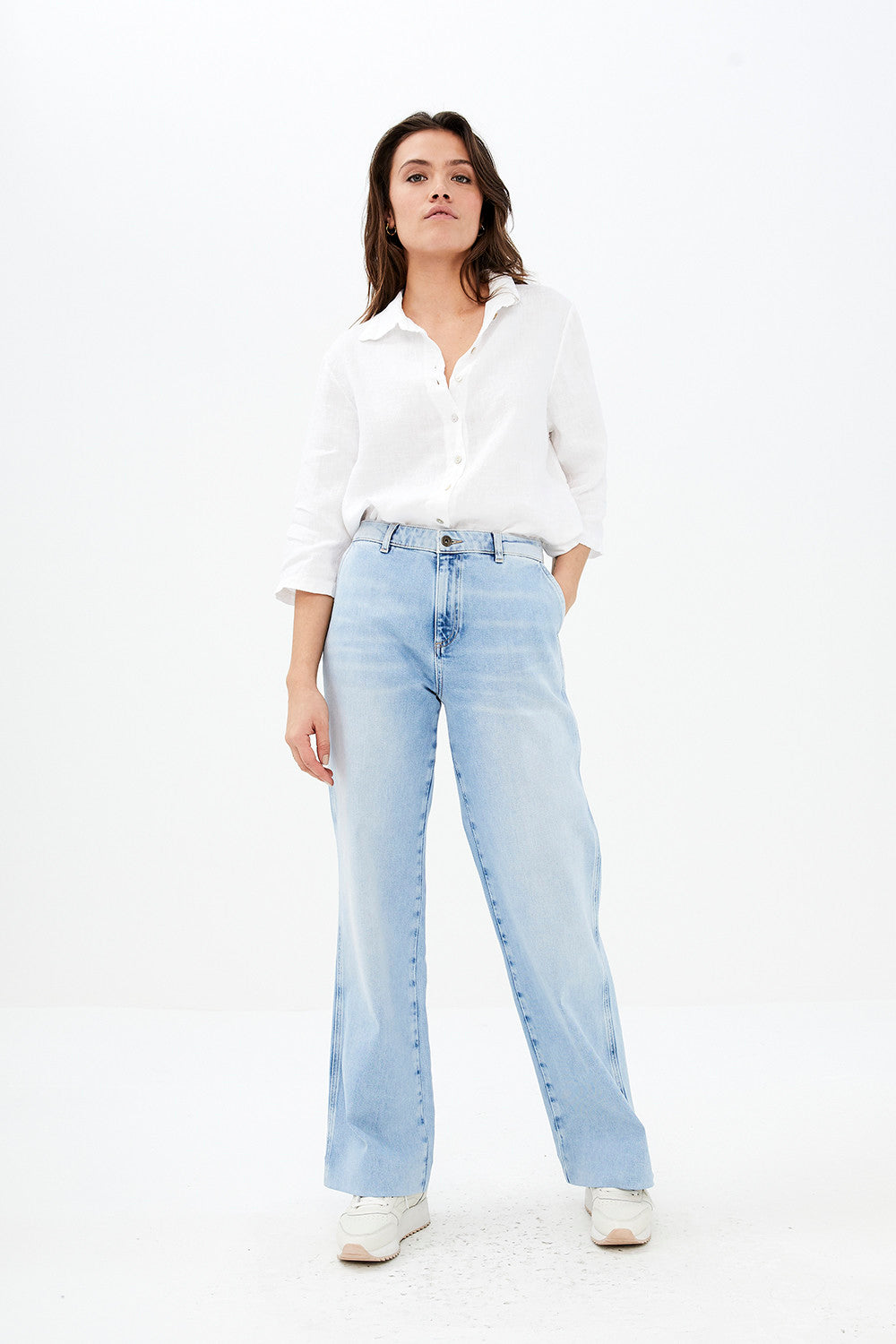 By-Bar - bodil white linen blouse