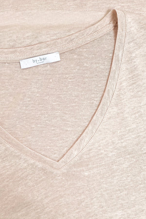 By-Bar mila top linen - blush pink