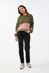 By-Bar - evi astro olive pullover