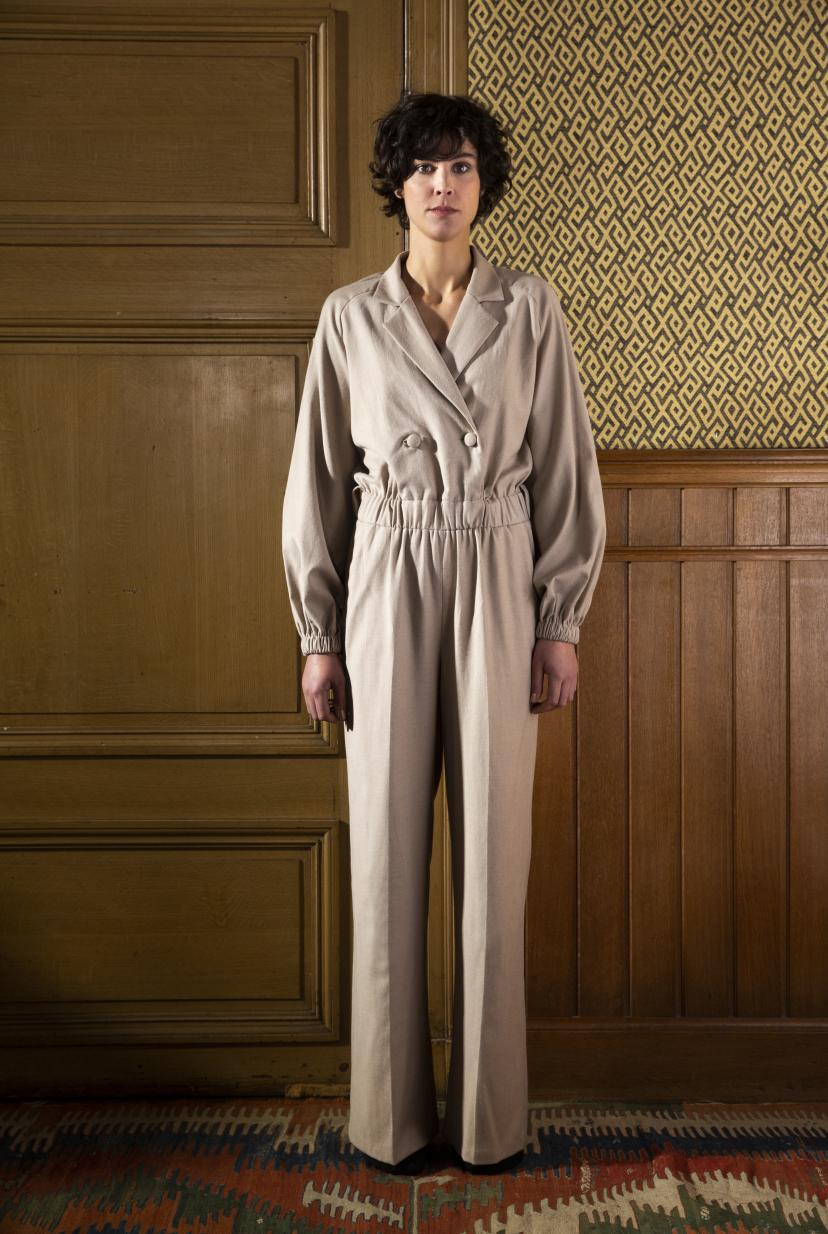FAM The Label - Jane wool jumpsuit beige