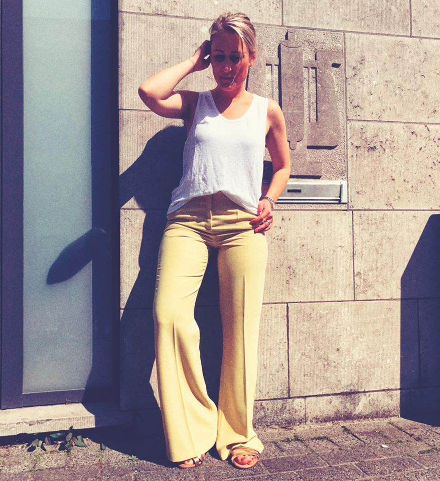 FAM The Label - julia loose yellow trousers