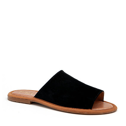 FELIZ - romy slide sandal in black suede