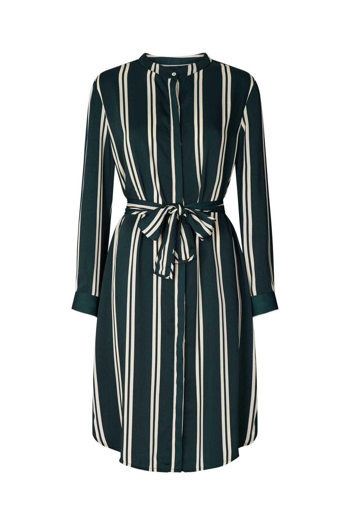 Lollys Laundry French dress stripe dark green