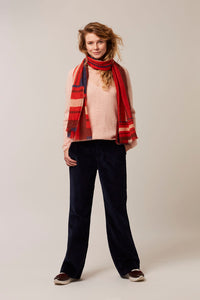 Hampton Bays scarf stripes winter wine