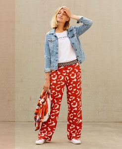 Hampton Bays - plater gold flame orange red loose trousers