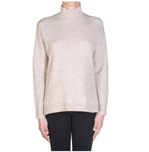 Kaos - light beige miele high neck sweater