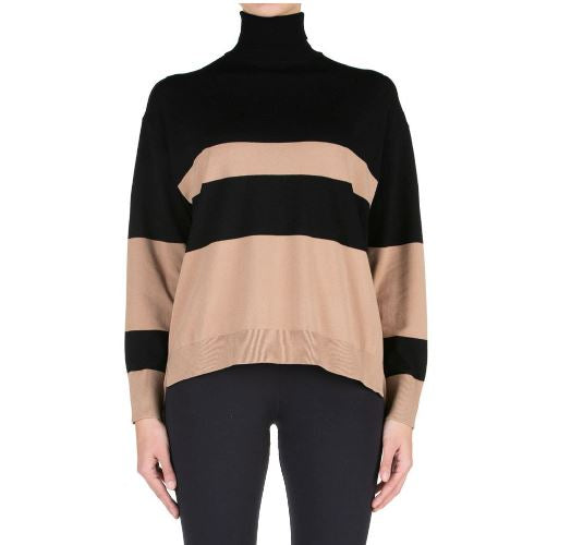Kaos - striped cammello sweater