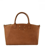 O My Bag - Fly Violet Midi camel hunter leather