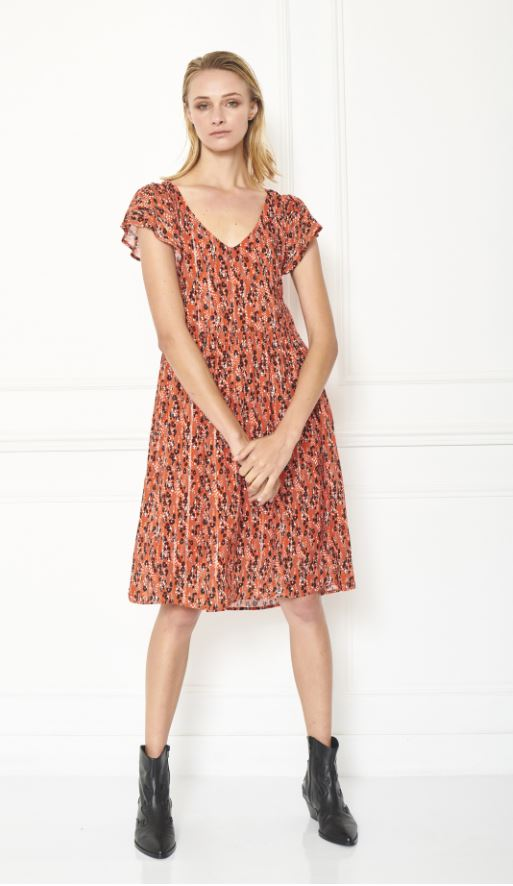 MKT studio - richti orange animal printed dress