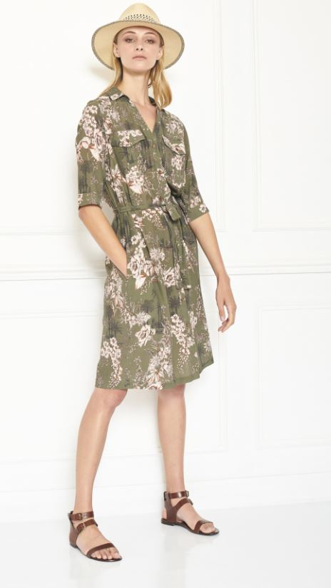 MKT studio - rulini dress flower print khaki