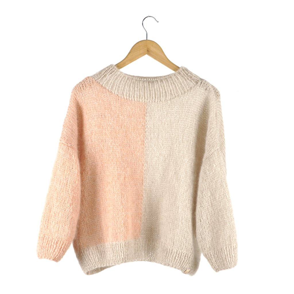 Made By Vest - Mira sweater soft beige marble light peach