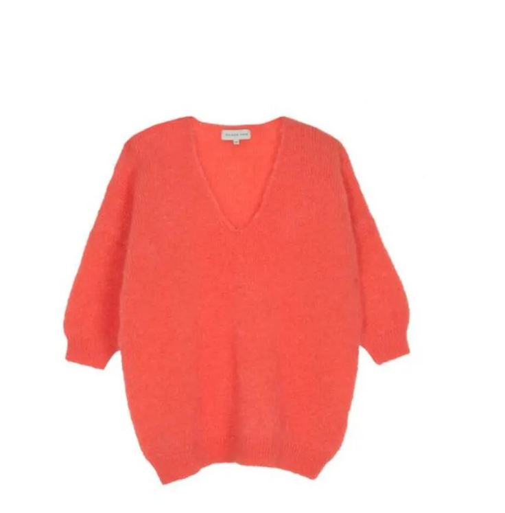 Maison Anje - lerecif knit nectarine orange