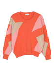 Maison Anje - lasalva knit sunset red jumper