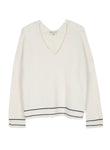 Maison Anje - leveron sugar knit sweater off white