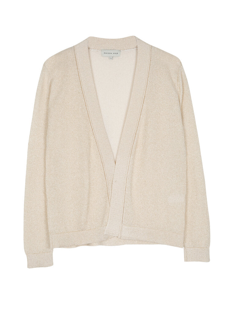Maison Anje - lisoly knit cardigan sugar off white