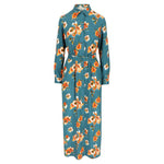 Mon Col Anvers - Fortuna dress petrol flower