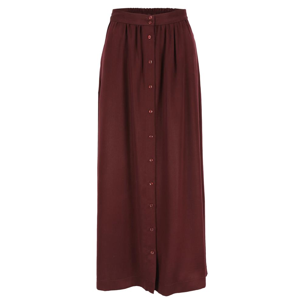 Mon Col Anvers - Kreta skirt tencel burgundy