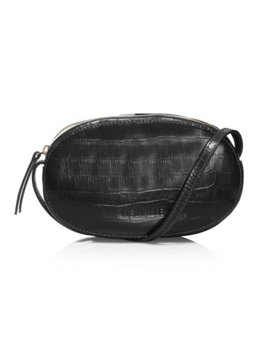 Neuville ovale black croco bag
