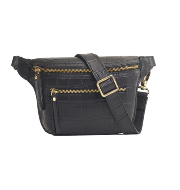 O My Bag - Beck's bum bag croco black classic