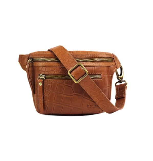 O My Bag - beck's bum bag croco wild oak soft grain leather