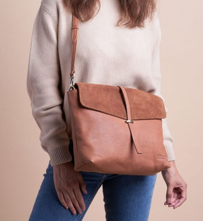 O My Bag - Ella wild oak soft grain suede leather