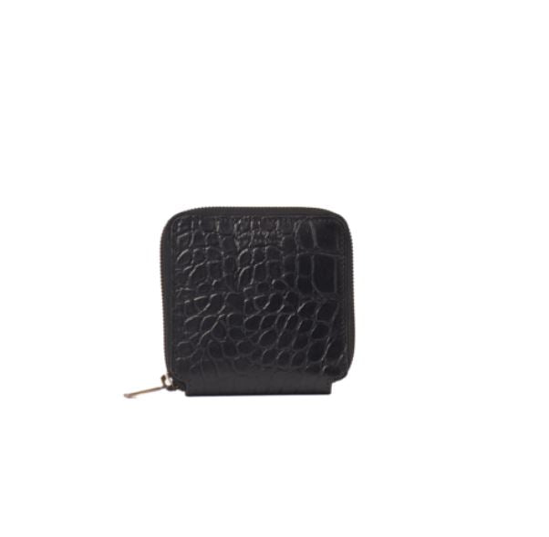 O My Bag - sonny square wallet croco black leather