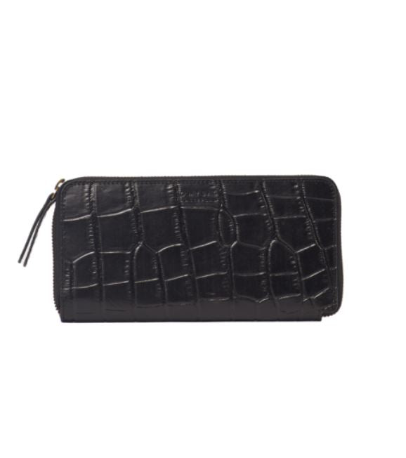 Copy of O My Bag - sonny wallet croco black leather