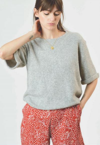 Orfeo - amanda grey chine sweater