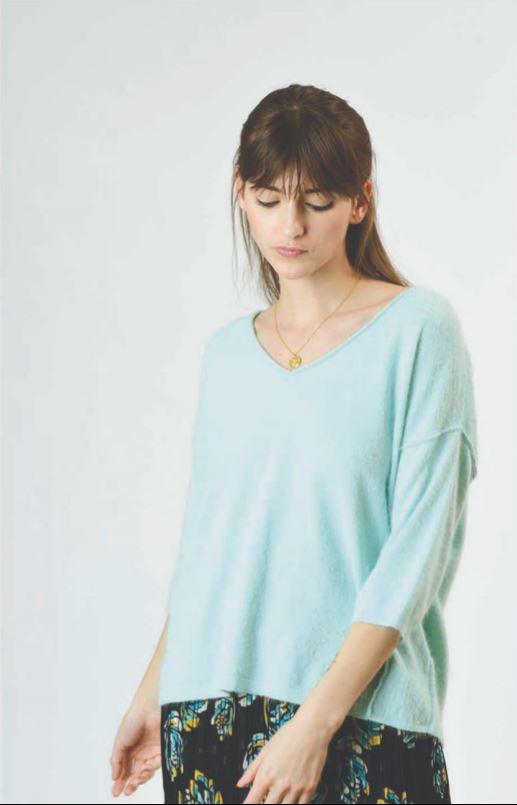 Orfeo - camille mint green sweater