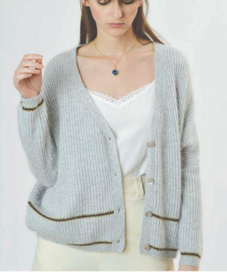 Orfeo -  ciel grey sweater