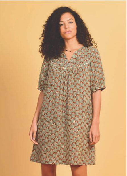 Orfeo - tali afro green dress