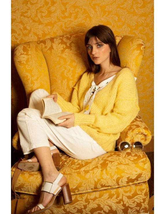 Orfeo - tessa lemon yellow cardigan