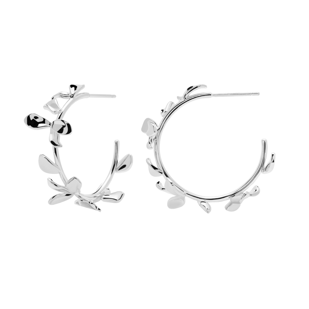 PDPAOLA - Lily silver earrings AR02-193-U Blossom collection
